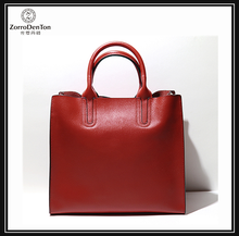 high quality office lady style leather women tote bag