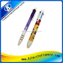 4 color and 6 color automatic ball pen/Good Quality Retractable Automatic Ball Pen for Promotional/bullet ball-point pen