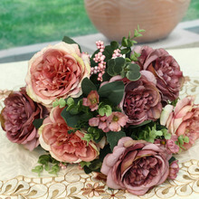Big Artificial Flower Bunch Artificial Flower Display Racks Artificial Flower in Bangkok