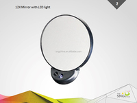cosmetic mirror with 2X 5X 10X 12X magnify led light
