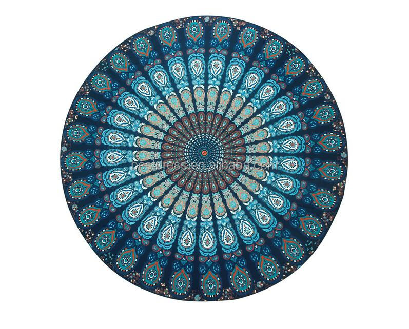 Round Beach Towels Printed Mandala Mat Blanket 147*147