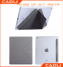 Hybrid Material Variety Folding PC Import PU Leather Case For iPad 5/6