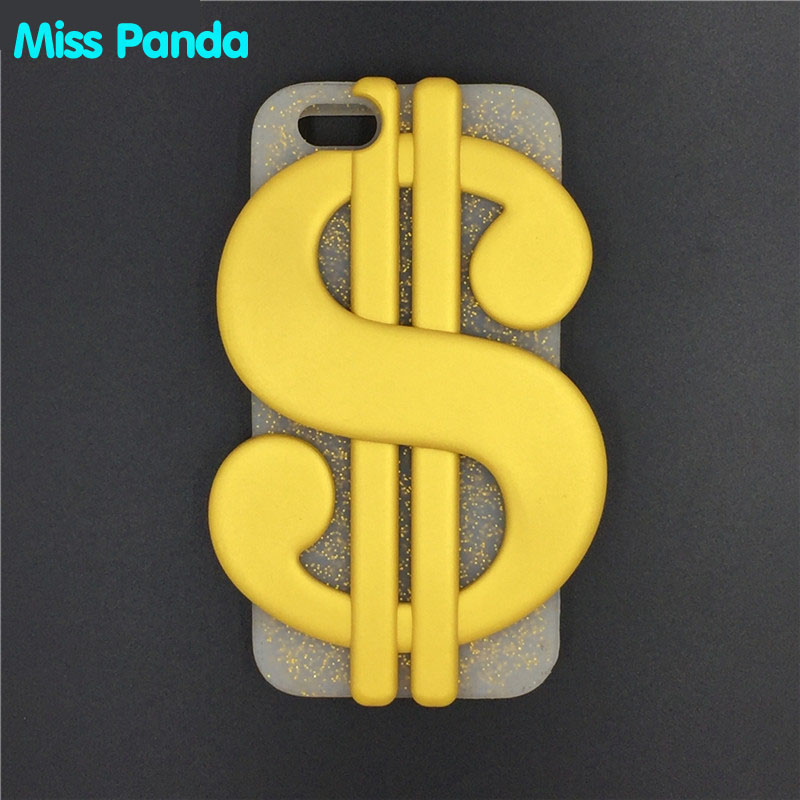 3D Cartoon Gold Dollars USD Money Phone Case with Pendant Soft Silicone Back Cover for Apple iPhone SE 5 5S 6 6s 7 7plus Plus