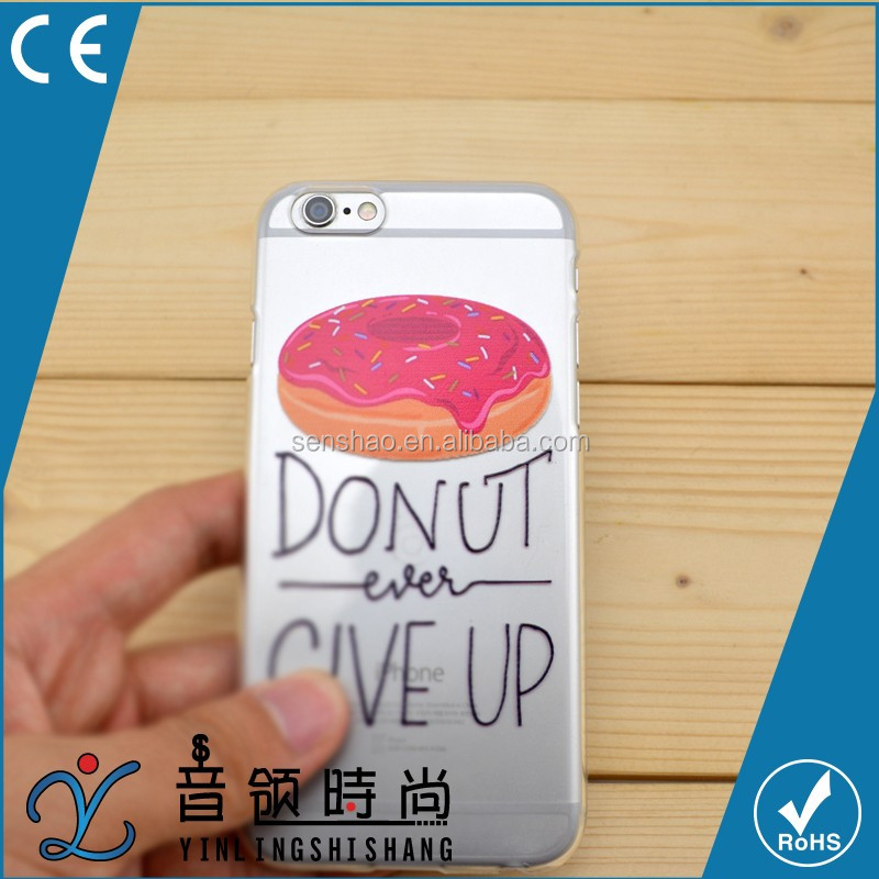 Hot Selling Custom Printed PC TPU Funky Transparent Cell Cover, Thin Mobile Phone Case Cover For iPhone 6 6S Plus