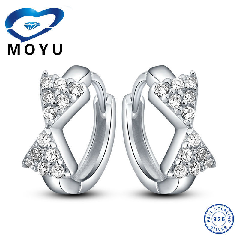 Wholesale Fashion Jewelry 925 Sterling Silver hoop earrings costume design acceptable fast delivery