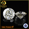 Wuzhou Zuanfa Gems factory direct sell excellent cut 6.5 mm G-H white color synthetic moissanite