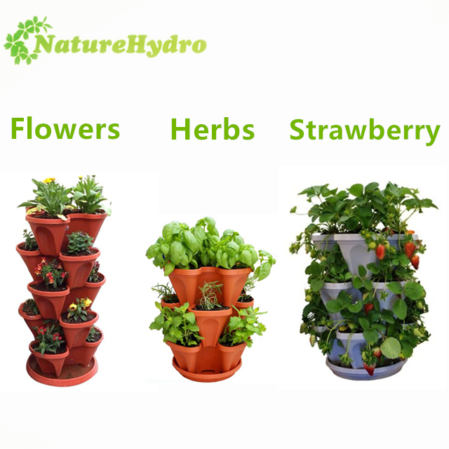 Commercial hydroponic aeroponics tower flower planter pot system