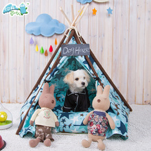 Hot Sale Pets Supplies Pet Bed Tents Warm Cat House Mat Pet Dog Tent Teepee