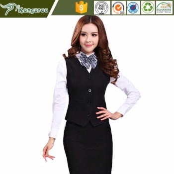 KU038 Carmy Flight Attendant Blouse And Skirt Cabin Crew Uniform