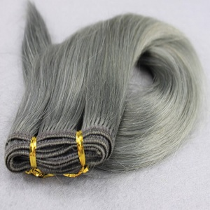 Wholesale cuticle aligned raw virgin brazilian hair in namibia, 100% brazilian remy hair grey human hair weaving
