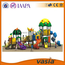 Colorful outdoor structure for preschool/play swing and slide equipment for children/plastic play game outdoor for kids