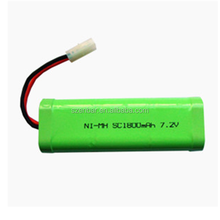 Battery NiMH 7.2V 1800mAh SC yes rechargeable RC car battery pack