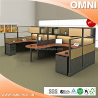 Modern office furniture office cubicle workstation for 4 people