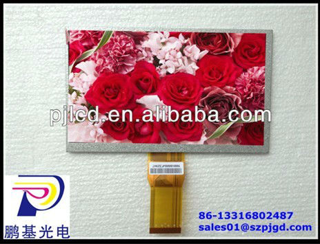 7.0 inch flat lcd with 1024*600 pixels (PJ070C50BA1)