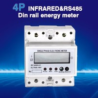 single phase din rail with modbus energy meter stop and turn off electric meter
