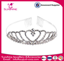 Women's Prom Queen Crystal Rhinestones Crown Tiara