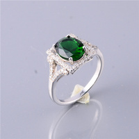 New Arrival 925 Sterling Stone Charm Rings