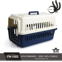 PP plastic pet carrier dog flight cage dog crate manufacturers pet carrier on wheels