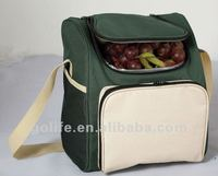 insulated lunch cooler bag with velcro closure,plastic lined cooler bag,cooler bottle freezer bag