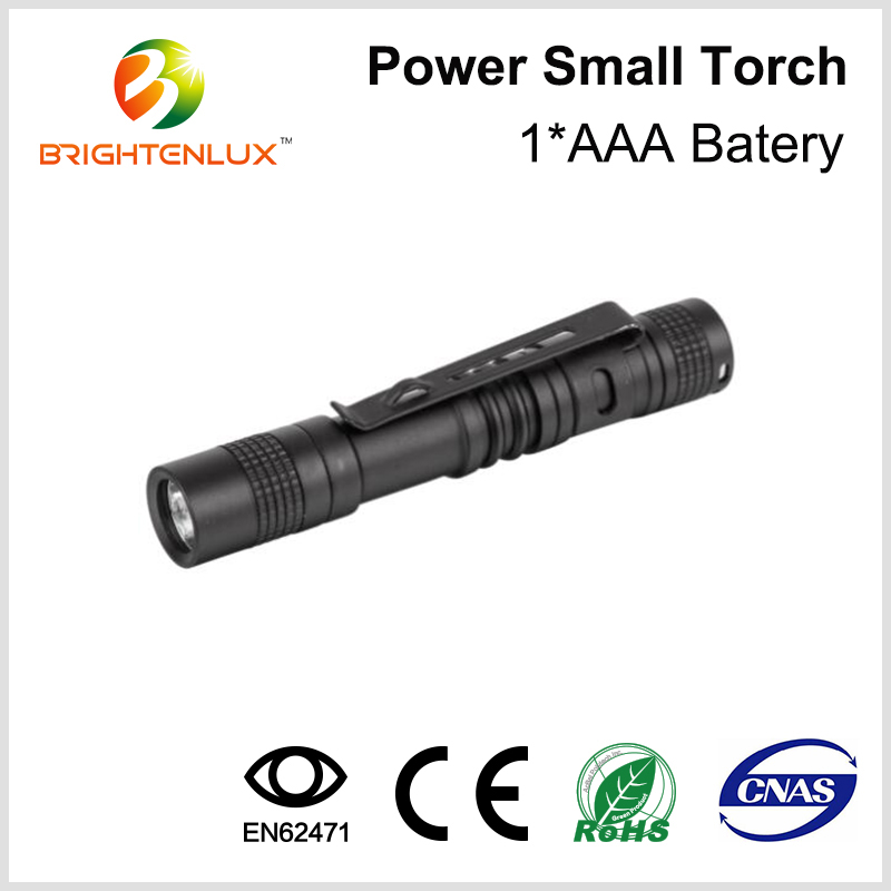 Factory Bulk Sale 1*AAA Battery Operated Pocket Small Handheld Aluminum alloy Bright Mini led Penlight with Belt Clip