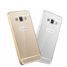 Top hot 2015 luxury aluminum metal bumper + PC cover case for samsung GALAXY A5