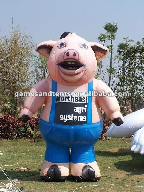 advertising inflatable walking costumes pig shape F1032