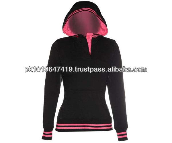 Custom Women Stylish Hooded Sweatshirts Fleece Hoodies with Hood