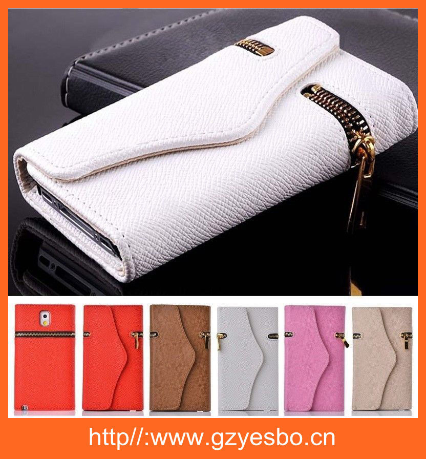 2015 new cell phone case Factory price leather wallet case for Samsung galaxy s5