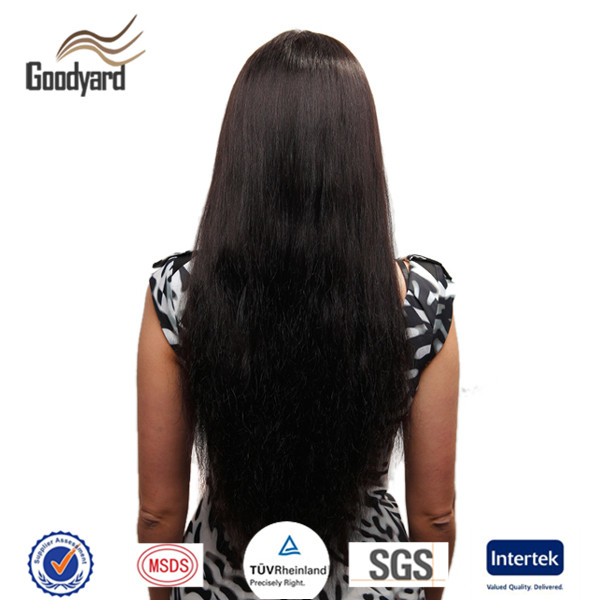 Machine Made Natural Synthetic Black Heat Resistant Wigs for Black Women