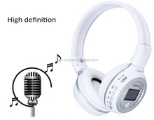 LED Display Screen Wireless Stereo Bluetooth Headset Headphone Handsfree Earphone With Mic, FM Radio, TF Card Slot