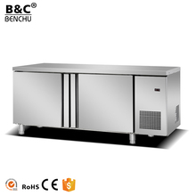 2017 Stainless Steel Commercial Chiller Freezer, Worktable Refrigerator