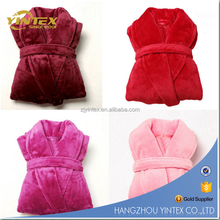 Top Grade Quality coral fleece robe polyester plush bathrobe