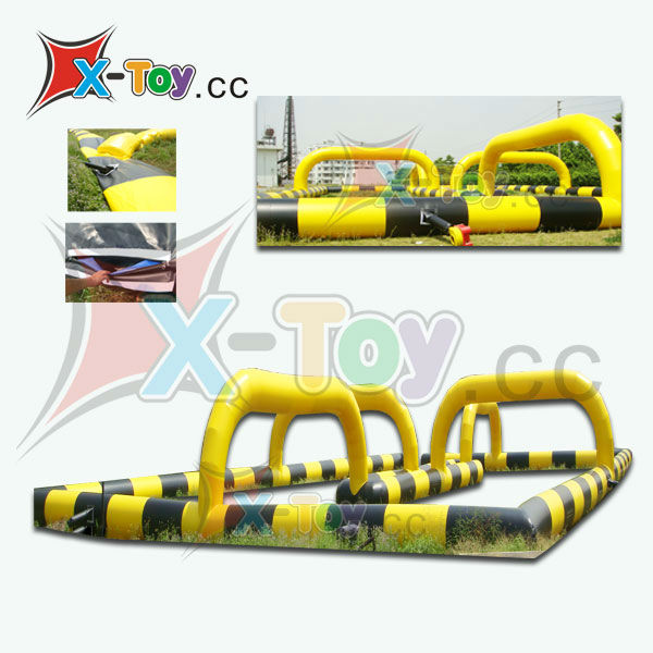 Giant speedway inflatable play structure