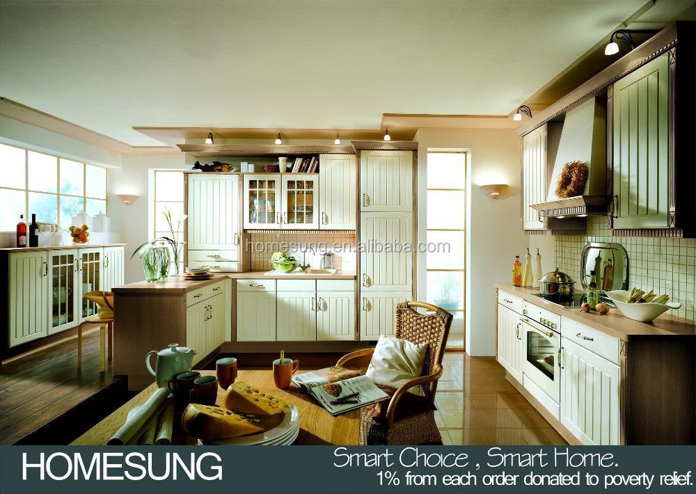 Homesung luxury kitchen designs customized solid wood for Solid wood kitchen designs