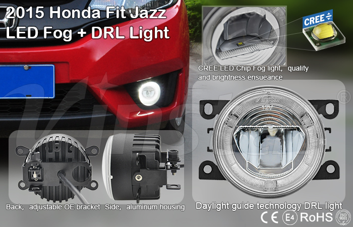 Auto parts Honnda fit jazz led fog drl light japan used car auction