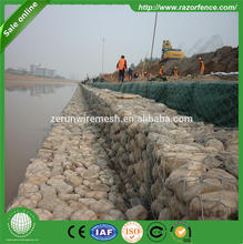 Building materials rock filled gabion basket