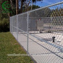9 Gauge Decorative Chain Link Wire Mesh Fence