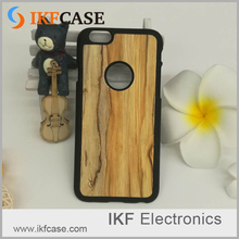 Wholesale Price High Quality Luxury Loyal Wood Grain Hard PU Leather Phone Back Case Cover For iPhone 5S
