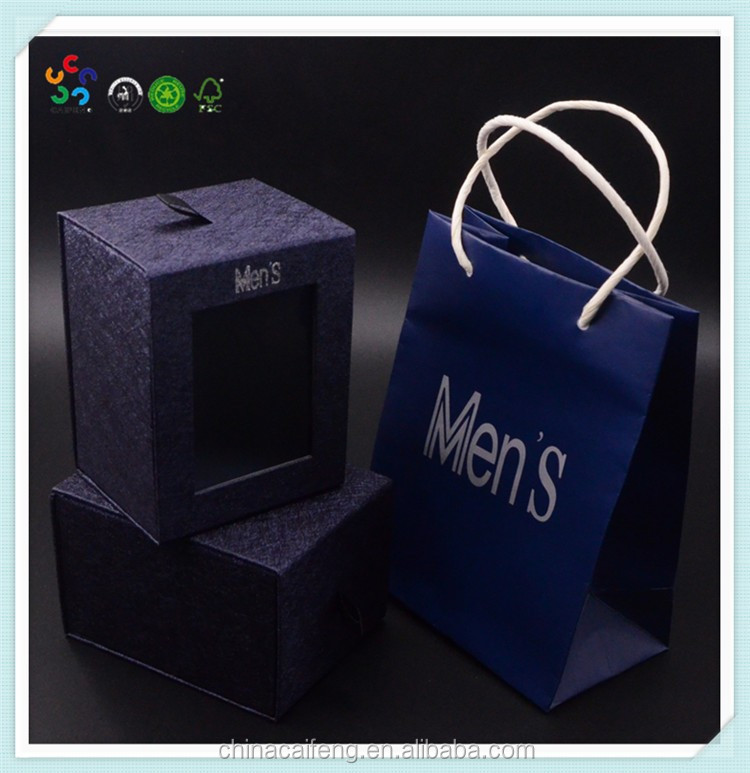 Customized High Quality Cardboard Tie Gift Box with Bow
