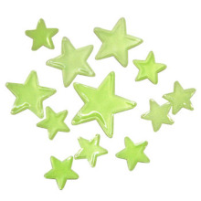 Noctilucent small decorative plastic stars for kids