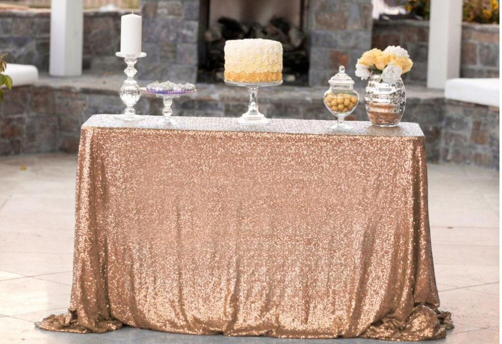 luxurious shiny sequin party tablecloth on hot sale