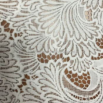 new novel fan-shaped flower milky fabric for garment in2016