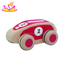 Red mini wooden car development toys,Wooden toy development car for children,Top sale wooden development car toys W04A114