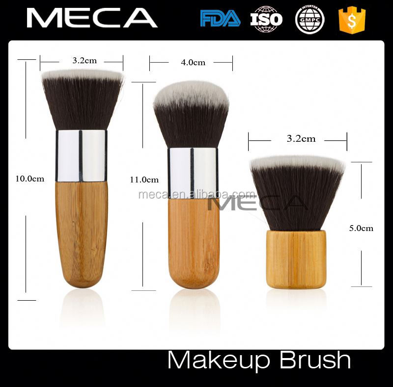 11pcs wood handle essential makeup brush with white fabric bag brushes makeup