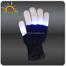 Flashing Corlorful Light Up Fingertip LED Gloves Mittens Rave Party Magic Gloves