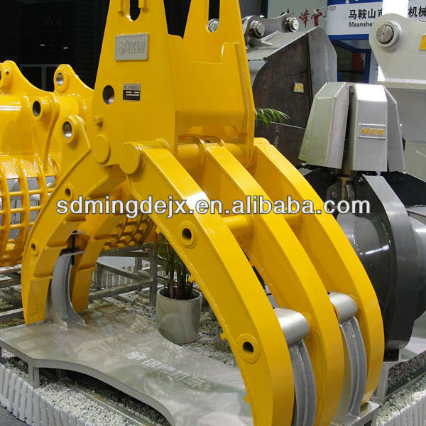 ISO Certified Mechanical/Hydraulic no ratory excavator grapple, clamp