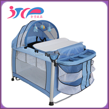 aluminium baby playpen/portable baby travel cot/safety baby cot bed with EN716 certificate