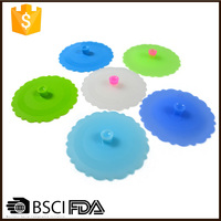 Wholesale Anti-dust Microwave And Refrigerator Safe Silicone Glass Cup Cover