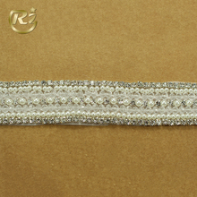 TL-137 China Supplier Wedding Belt Applique Direct Sale Chain With Pearl Wholesale Stone Bride Rhinestone Trim