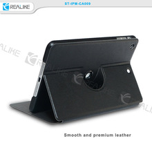 360 degree rotating tablet case for ipad, premium leather case for ipad mini 4 tablet